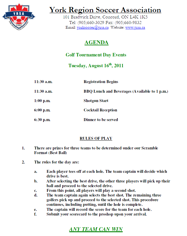 York region adult soccer league